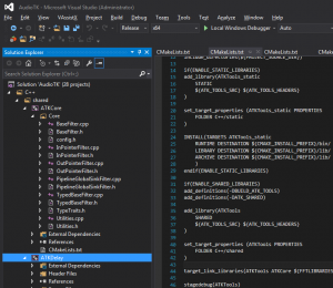 Files hierarchy in Visual Studio