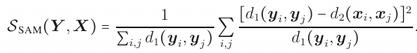 Sammond's cost function