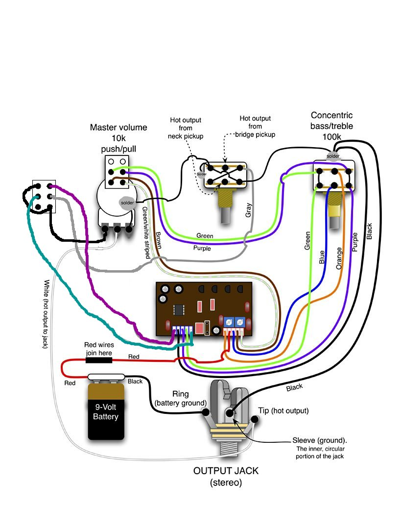 Modified Guitar Wiring Diagram Auto Electrical Wire And Now For Something Completely Different