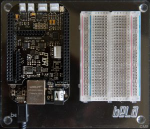 Beagleboard with Bela extension
